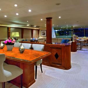 Oscar II yacht whitsundays formal dining