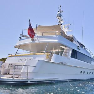 Oscar II yacht whitsundays panoramic side angle