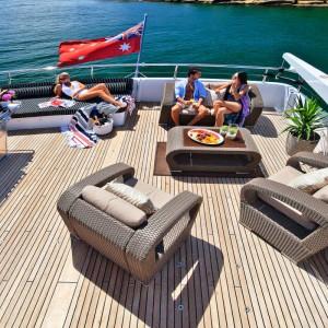 Oscar II yacht whitsundays rear deck