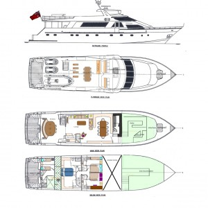 Cosmos yacht COSMOS plan