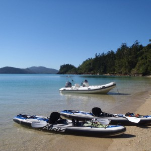 Charter yacht kayaks