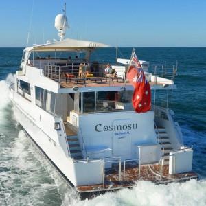 Cosmos yacht underway