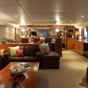 Cosmos yacht saloon