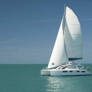 Leopard 46 sailing catamaran two keela