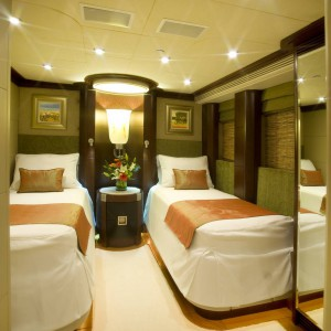 Yacht charters whitsundays twin bedroom