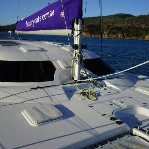 fusion 40 catamaran front deck