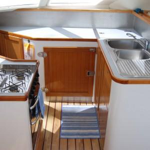 fusion 40 catamaran kitchen