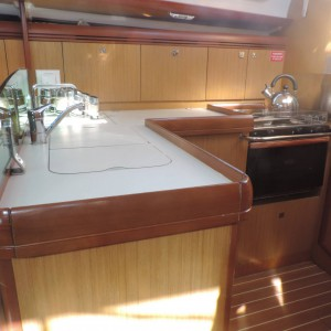 Jeanneau 36 sailing yacht jasambri galley 1