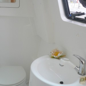 Seawind 1250 catamaran bathroom