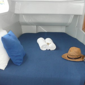 Seawind 1250 catamaran bedroom