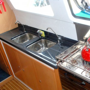 Seawind 1250 catamaran seawindow kitchen