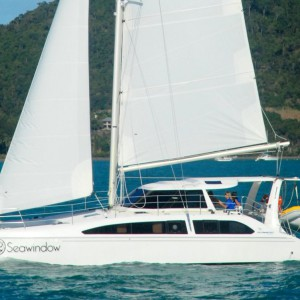 Seawind 1250 catamaran sea window