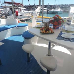 leopard 46 sailing catamaran two keela black deck