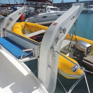 Leopard 46 sailing catamaran two keela tender