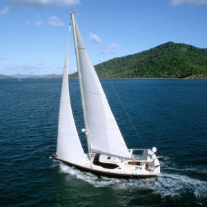 bliss yacht aerial view