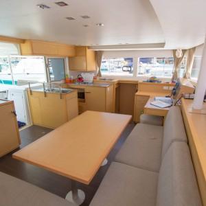 lagoon 450 sailing catamaran inside